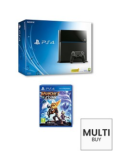 playstation-4-500gb-console-with-ratchet-and-clank-and-optional-extra-controller-and-12-months-psn-subscription