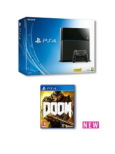 playstation-4-500gb-console-with-doom-and-optional-extra-controller-365-days-psn-subscription