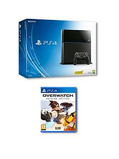 playstation-4-500gb-console-with-overwatch-and-optional-extra-controller-365-days-psn-subscription
