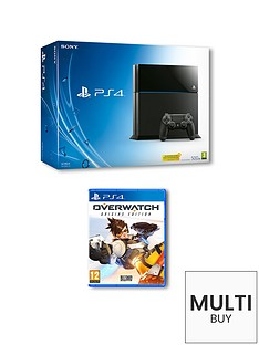 playstation-4-500gb-console-with-overwatch-and-optional-extra-controller-andor-12-months-psn-subscription