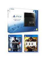 1Tb Console with Uncharted 4: A Thiefs End and Doom and Optional Extra Controller and PlayStation Plus