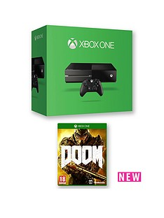 xbox-one-500gb-console-with-doom-and-optional-extra-controller-12-months-xbox-live-subscription