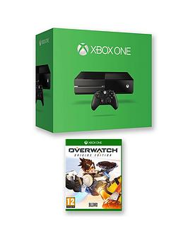 xbox-one-500gb-console-with-overwatch-and-optional-extra-controller-12-months-xbox-live-subscription