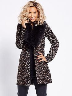 myleene-klass-faux-fur-collar-leopard-coat