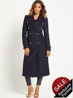 rochelle-humes-military-maxi-length-coat-navy