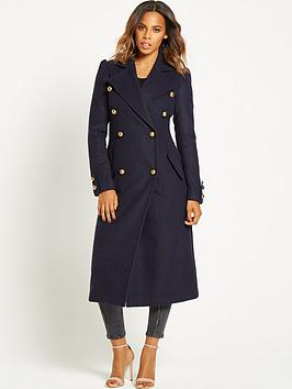 rochelle-humes-military-maxi-length-coat-navy