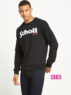 schott-logo-crew-sweat