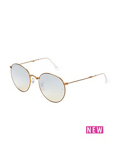 ray-ban-oversized-round-sunglasses-rose-gold