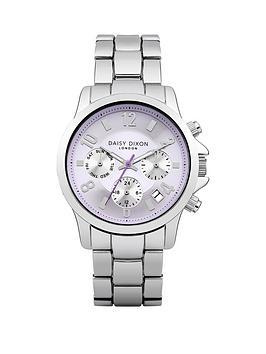 cara-purple-chronograph-dial-stainless-steel-bracelet-ladies-watch