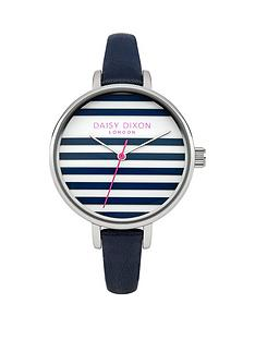 lauren-striped-dial-blue-strap-ladies-watch