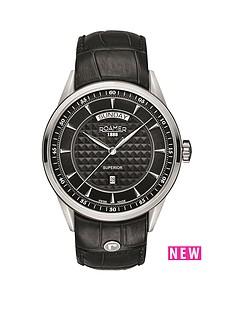 roamer-roamer-superior-day-black-dial-black-leather-strap-mens-watch