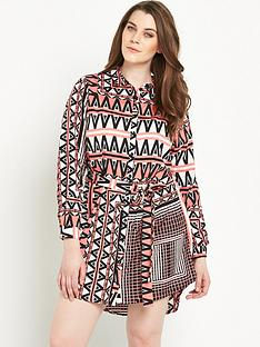 ax-paris-curve-zignbspzag-print-shirt-dressnbsp