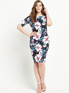 ax-paris-curve-midi-short-sleeve-dress