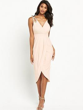 tfnc-dora-embellished-wrap-midi-dress