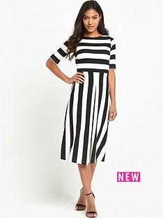 tfnc-maria-striped-midi-dress