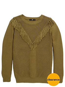 v-by-very-girls-fringe-knitted-jumper