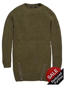 v-by-very-girls-zip-hem-knitted-dress