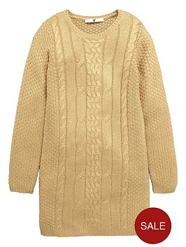 v-by-very-girls-cable-knit-dress