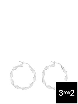 the-love-silver-collection-sterling-silver-20mm-twisted-hoop-earring