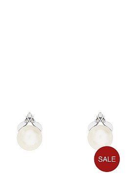 the-love-silver-collection-sterling-silver-cubic-zirconia-and-single-freshwater-pearl-earring