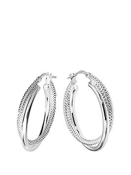 the-love-silver-collection-sterling-silver-double-hoop-earrings