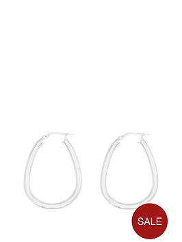 the-love-silver-collection-sterling-silver-25mm-oval-shape-hoop-earring