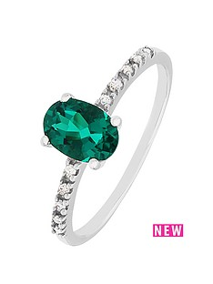 love-diamond-sterling-silver-diamond-set-created-emerald-ring