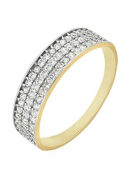 love-gold-9ct-yellow-gold-3-row-cubic-zirconia-ring
