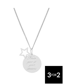 the-love-silver-collection-sterling-silver-star-message-pendant