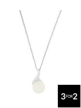 the-love-silver-collection-sterling-silver-cubic-zirconia-and-freshwater-pearl-pendant