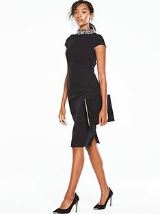 v-by-very-diamante-neck-bodycon-dress-black