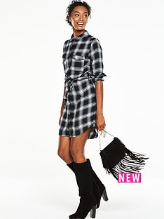 v-by-very-check-shirt-dress-monochrome