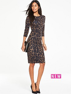 v-by-very-animal-printed-midi-bodycon-dress