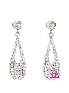 the-love-silver-collection-sterlingnbspsilver-crystal-set-teardrop-earrings