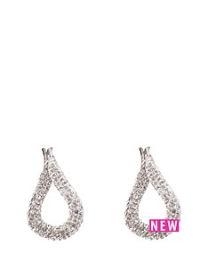 the-love-silver-collection-sterling-silver-crystal-set-twisted-hoop-huggienbspearrings