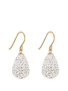 the-love-silver-collection-9ctnbspyellow-gold-crystal-teardrop-bomb-earrings