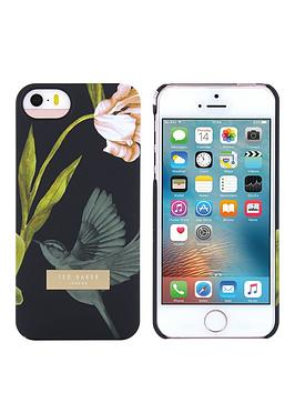 ted-baker-ted-baker-soft-feel-hard-shell-apple-iphone-55sse-dobos-ndash-oriental-floral-black