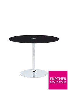 havana-glass-and-chrome-95-cm-round-dining-table