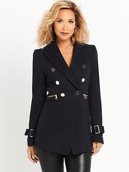 myleene-klass-button-front-military-coat