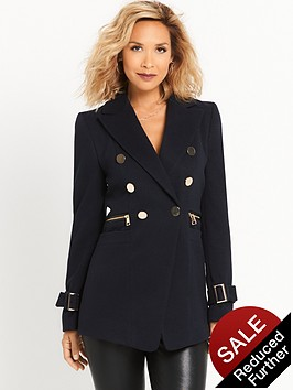 myleene-klass-button-front-military-coat