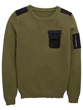 v-by-very-boys-waffle-knit-chest-pocket-jumper