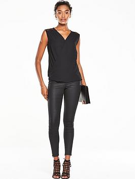 v-by-very-star-mesh-sleeveless-wrap-blouse