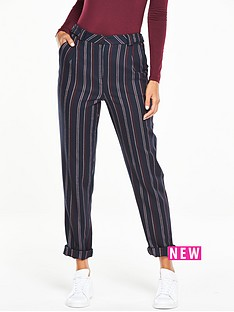 v-by-very-striped-tapered-leg-trouser
