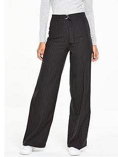 v-by-very-pinstripe-belted-wide-leg-trouser