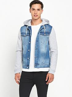 river-island-jersey-sleeve-denim-jacket