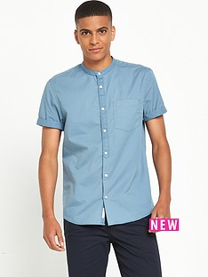 river-island-short-sleeve-grandad-collar-shirt