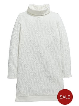 v-by-very-girls-bubble-jacquard-cable-knit-shift-dress