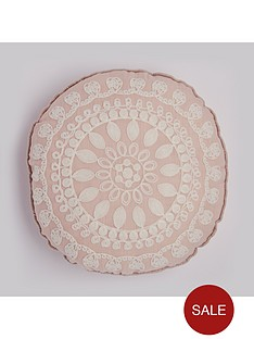 round-floral-geonbspapplique-cushion-in-pink