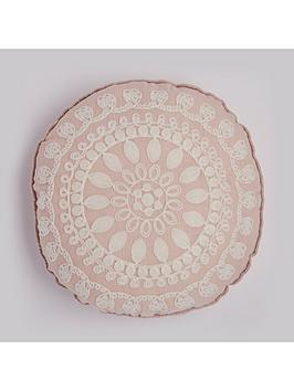 round-floral-geonbspapplique-cushion-in-pink
