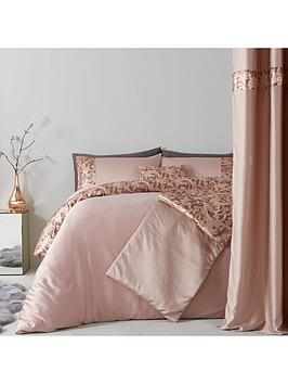 sequin-floral-lace-border-duvet-set-champagne